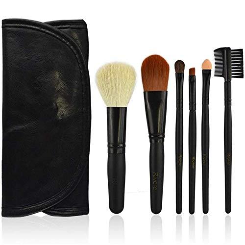 WEHQ Pinceau de Maquillage Set, 6pieces Faire des brosses pour la Fondation Up Blending Poudre pour Le Visage Contour Fard à Joues Fard à paupières Maquillage avec Le Sac cosmétique