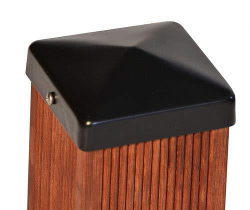 Pfostenkappe schwarz Pyramide für Holz-Pfosten inkl. VA-Schrauben (8x8 cm)