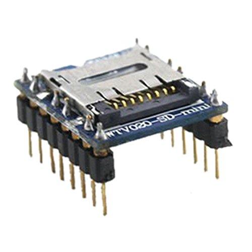 Cikuso 1 Stueck Ausgezeichneter U-Disk Audio Player Voice-Modul SD-Karte SD Voice-Modul WTV020