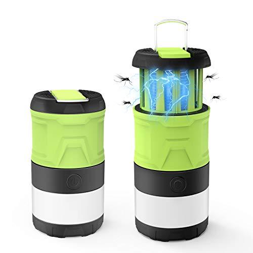 Campinglampe LED Laterne Moskitoschutz Draussen Multi Kompakte IPX4 wasserdicht Faltbare mit Magnetisch Camping Lampe UV Insektenvernichter mit 2000mAh Akku, 3 Licht Modi für Angeln, Wandern, Camping
