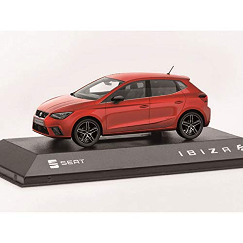 Seat 6H1099300HAQ Ibiza FR - Coche en Miniatura (Escala 1:43), Color Rojo