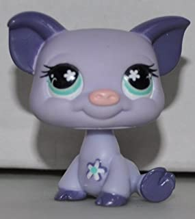 Pig #550 (Purple, Blue Eyes) - Littlest Pet Shop (Retired) Collector Toy - LPS Collectible Replacement Single Figure - Loose (OOP Out of Package & Print)