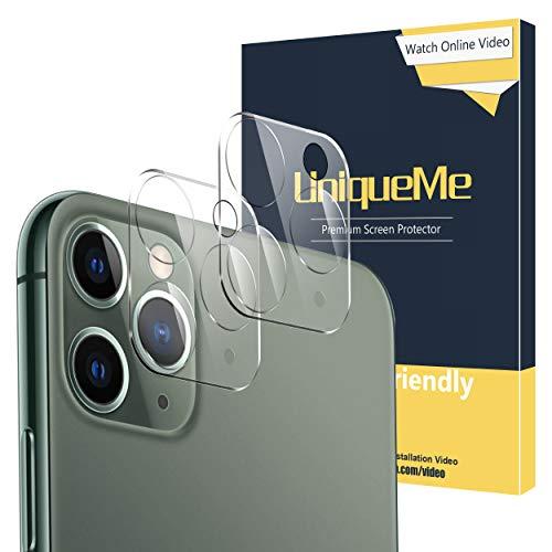 [2 pezzi] UniqueMe Fotocamera Posteriore Pellicola Vetro Temperato Compatibile con iPhone 11 pro/iPhone 11 pro Max,Protezione Lente Pellicola Posteriore Compatibile con iPhone 11 PRO /11 PRO Max