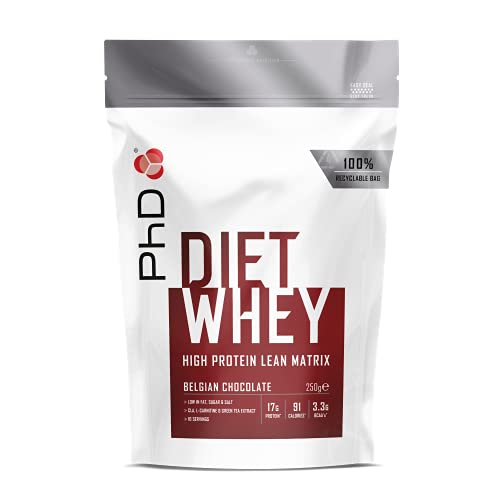 PhD Nutrition Diet Whey Protein Powder for weight loss, Belgian Chocolate, 250 g