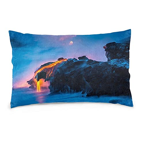 Nsafinhwv Fundas de Cojines Natural Beauty - Funda de Almohada Decorativa de volcán de Lava de Fundas de cojín para decoración del hogar para salón, Dormitorio y Cama.