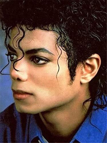 MOL 5D-diamant-ster, om te knutselen, motief: Michael Jackson 25x30cm