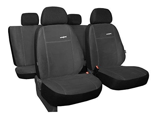 POKTER-ALC Maßgefertigtes Autositzbezugset Golf VII Sportsvan ab 2013 Design Comfort in Alkantra-Sitzfläche 8 Farben Unsere