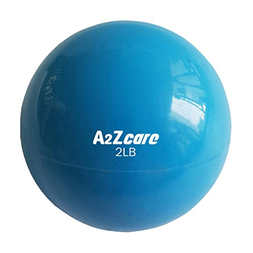 A2ZCare Toning Ball - Soft Weighted Mini Ball / Medicine Ball (Blue (2lbs))