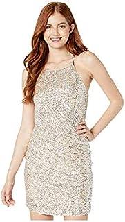 Parker womens Alina High Neck Ruched Cocktail Dress Formal Dress