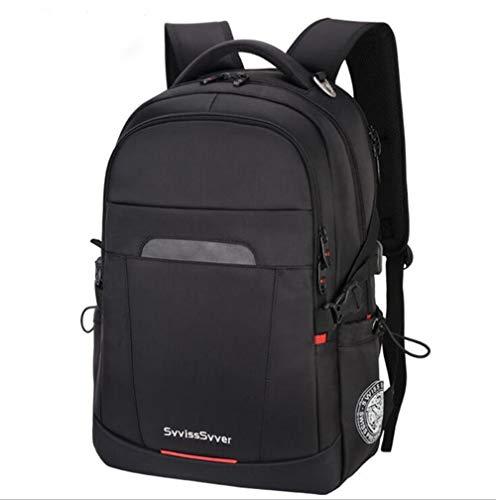 Laptop Rucksack 17 Zoll Business Backpack Damen Herren Tagesrucksack Mit USB Ladeport 35/40 Liter für Herren Männer Reise Büro (M)