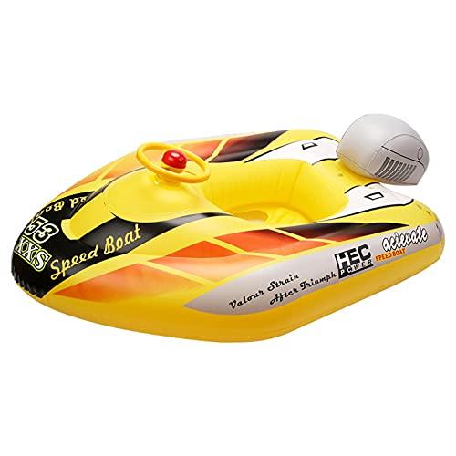 Kwangchow Baby Float Seat Boot, Aufblasbares Flugzeug Motorboot Mit Lenkrad Schwimmender Schwimmring Für Kinder