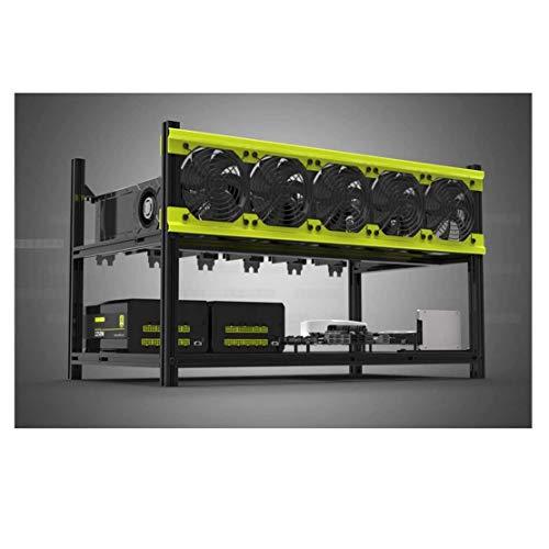 Veddha V3D 6GPU Stapelbarer Rahmen Open Air Mining Rig Gehäuse Ethereum LTC BTC Mit 5 Lüftern
