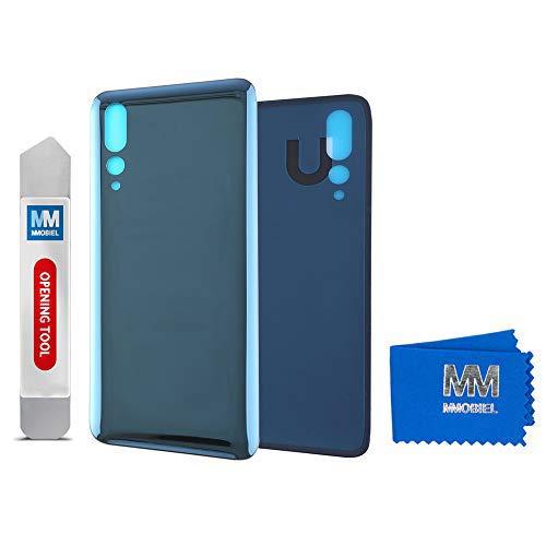 MMOBIEL Tapa de Bateria Cubierta Trasera de Vidrio Compatible con Huawei P20 Pro 2018 6.1 pulg (Azul)