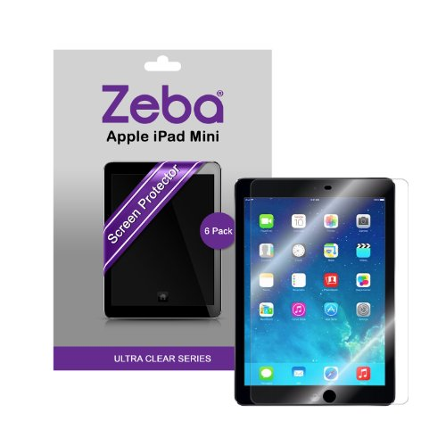 Zeba - Juego de protectores de pantalla para iPad mini y iPad mini 2 con pantalla Retina (6 unidades)