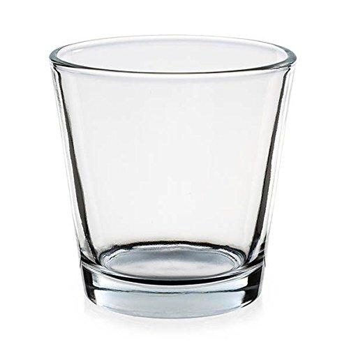 09565B Teelichtglas Pajoma Trichterform, 7,5 x 5,5 x 7,5 cm, de 12 unidades