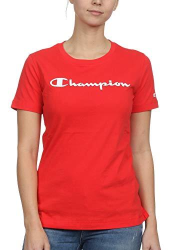 Champion T-Shirt Damen 111436 S19 RS041 FLS Rot, Größe:S