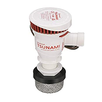 Attwood 4253-7 T-500 Tsunami Recirq Aerator Kit For Livewell Water 500 GPH Aerator Spray Head Stainless Steel Strainer