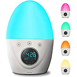 Alarm clock for kids with light changing options
