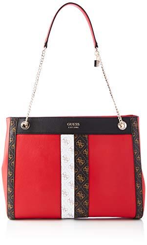Guess Katey Girlfriend Carryall, bolsos para Mujer, Red Multi, Talla única