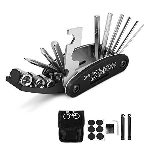 HKBTCH Fahrrad Multitools 16-in-1Fahrrad Reparatur Werkzeug Set, Fahrrad Multifunktionswerkzeug für Mountainbikes und Rennräder
