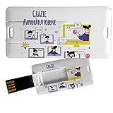 My Custom Style Pen Drive USB colección #Scuola# de 4/8/16/32 GB scuola-5 Mini Card_8 GB