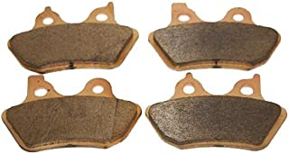 Foreverun Motor Front and Rear Sintered Brake Pads for Harley Davidson Softail Fxst/fxsti Softail Standard 2000 2001 2002 2003 2004 2005