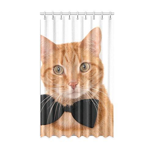 N\A Reise Verdunkelungsvorhänge Krawatte Band niedlich lustige Katze Innenfenster Vorhang 50 x 84 Zoll EIN Stück für Patio Glasschiebetür/Schlafzimmer