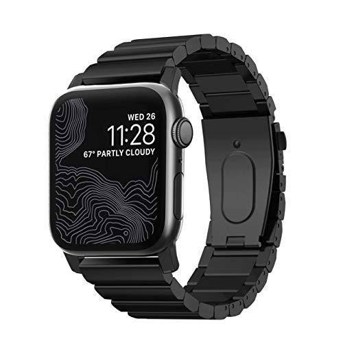 NOMAD NM1A4HB000 Accessorio per smartwatch Band Nero Acciaio Inossidabile NM1A4HB000, Band, Nero, Apple, Apple Watch Series 1, 2, 3, 4, 5, Acciaio Inossidabile, Nero