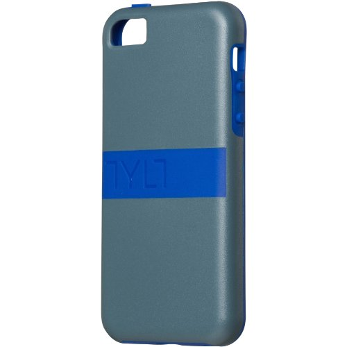 Tylt Band Case for iPhone 5c - Retail Packaging - Blue / Grey