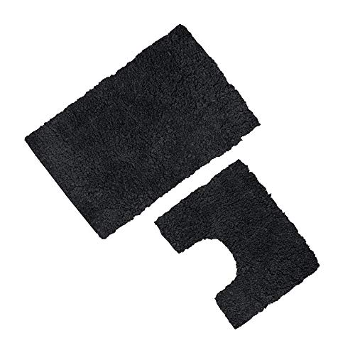 GAVENO CAVAILIA Super Soft 2 Piece Zero Twist Bath Mat Pedestal Set Non...