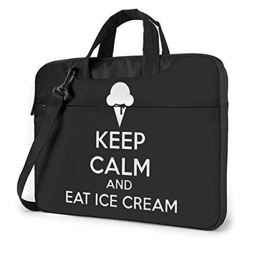 Houd rust en eten ijs laptop schoudertas met handvat dragen Messenger handtas