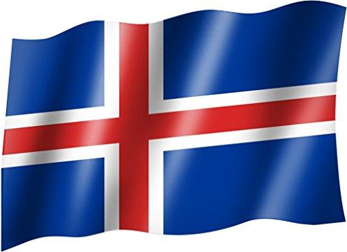 Flagge/Fahne ISLAND Staatsflagge/Landesflagge/Hissflagge mit Ösen 150x90 cm, sehr gute Qualität