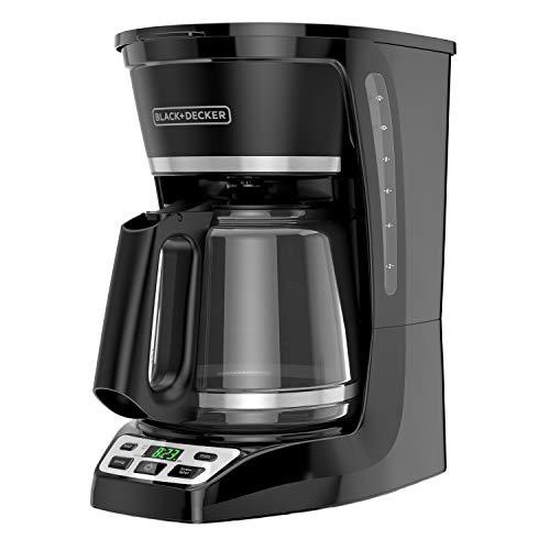 BLACK+DECKER 12-Cup* Programmable Coffeemaker, Black, CM1070B-1