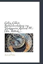 Colley Cibbers Bühnenbearbeitung von Shakespeares Richard III.: [diss. Rostock.]. (German Edition)