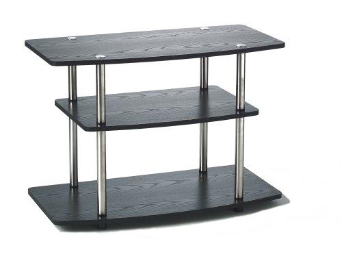 Convenience Concepts Designs2Go 3 Tier TV Stand, Black