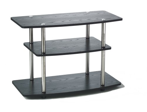 Convenience Concepts Designs2Go 3 Tier TV Stand, Black