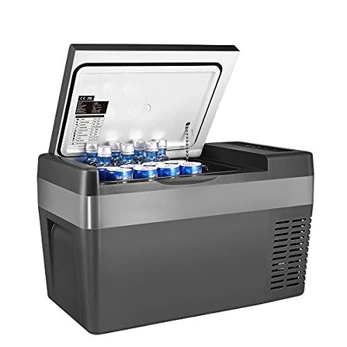 LDOR 25L Frigorifero per Auto Mini Frigo per Auto Congelatore Automatico del Compressore 12V-24V per Van RV Vehicle Uso Domestico Picnic Camping Cooler Portatile
