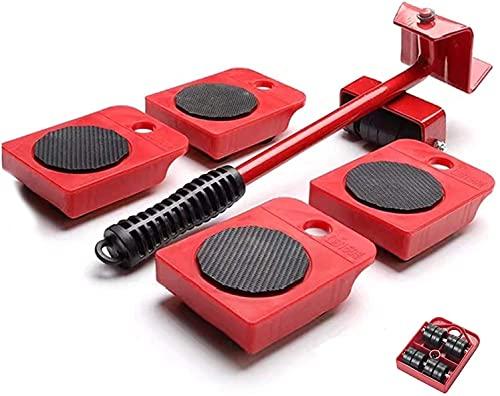 Frofine Elevador de Muebles Ruedas de Transporte para Muebles Herramientas Movimiento Pesadas Ruedas para Muebles Pesados deslizantes para Muebles Pesados Mover Muebles Juego de Rodillos para Muebles