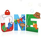 Gone Fishing Large One Letter Sign First Birthday The Big One Decoration Ideas O-Fishally One Party Cake Smash Mache Photo Prop Supplies