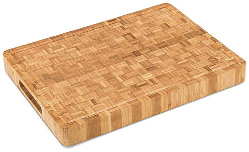 End Grain Wood Bamboo Cutting Board for Kitchen, Commercial Use -...