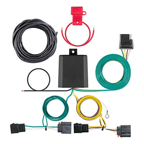 CURT 56333 Vehicle-Side Custom 4-Pin Trailer Wiring Harness, Select Chrysler Town and Country, Dodge Durango, Grand Caravan, Jeep Patriot