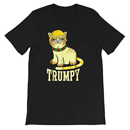 Funny Trumpy Cat Shirt Gifts Trump Troll Hater Gift for Men Women Girls Tshirt Black