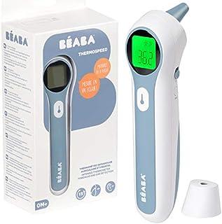 BÉABA - Termómetro infrarrojos sin contacto - Medidor de temperatura digital - 3 en 1 : Frente, Auricular y Ambiental - Mo...