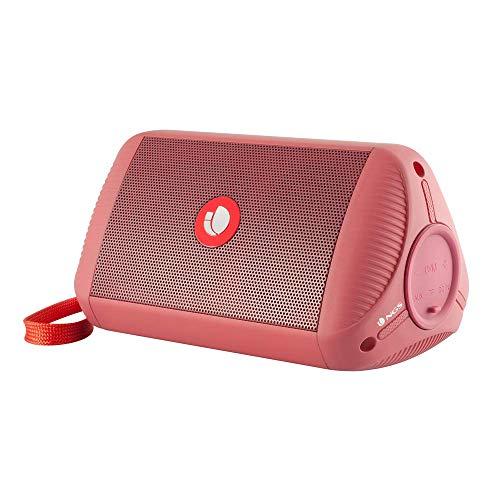 NGS Roller Ride Red Altavoz Bluetooth Portátil 10W con Entrada de Audio Auxiliar y Micro SD, Waterproof IPX4, Rojo