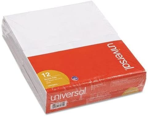 Universal Scratch Pads New Orleans Mall Unruled 5 x 8 100-Sheet Great interest White 12