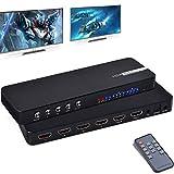 HDMI Matrix Ippinkan 4X2 4K HDMI Matrix Switch ,HDMI 2.0 HDCP 2.2 4K@60hz HDMI Matrix mit Audio Extraktor, Ultra HD, 3D, Metallgehäuse, mit Fernbedienung