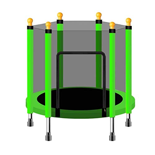 Trampolines HUO - Children's with Safety Enclosure, Outdoor Round Heavy-Duty Metal Frame Mini Rebounder Bounce- Max Load 200KG(Color:HZ-004,Size:43in)