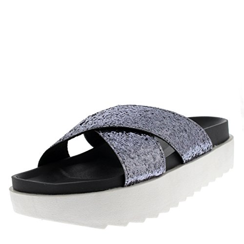 Mujer Plataforma Resplandecer Correa Ponerse Verano Moda Sandalias Zapatos
