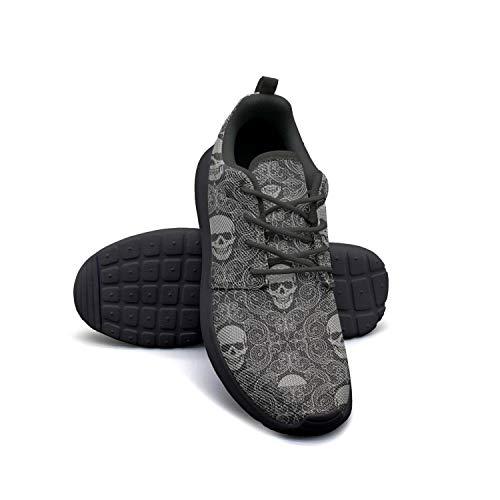 Wallpaper Skull Logo black Walking Shoes for Women customize Breathable Best Running Shoes