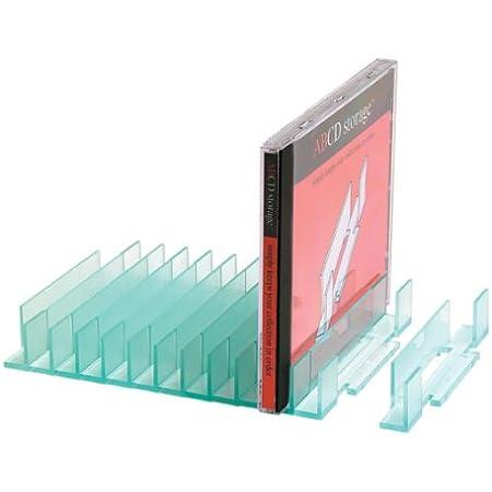 ABCD Storage Estanteria de Almacenamiento de CD - Organizador Modular de CD (Capacidad de 20)